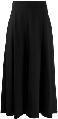 FEDERICA TOSI Plain Midi A-Line Skirt