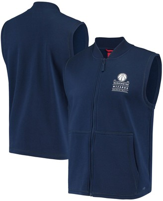 Men's Navy Washington Wizards Landy Full-Zip Vest