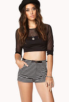 Forever 21 Nautical Striped Shorts w/ Belt