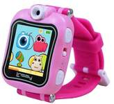 """LINSAY® 1.5"""" Kids Smartwatch 90 Degree Selfie Camera HD for Videos/Photos Learning Apps Pink"""