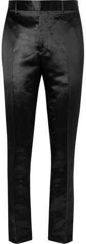 Calvin Klein Slim-Fit Stripe-Trimmed Satin Trousers