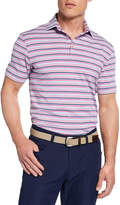 Peter Millar Men's Striped Polo Shirt