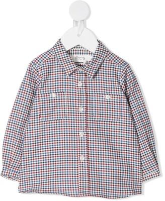 Bonpoint Mico gingham check shirt