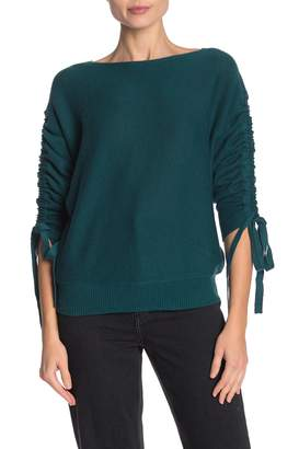 Joie Danee Bow Sleeve Wool Blend Sweater