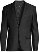 The Kooples Wool Lambskin Suit Jacket