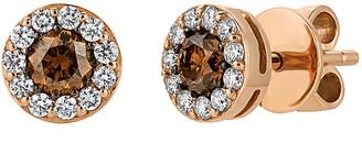 LeVian Le Vian 14K Rose Gold 0.73 Ct. Tw. Diamond Earrings