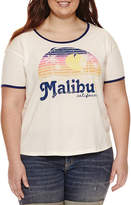 Fifth Sun Malibu Graphic T-Shirt- Juniors Plus