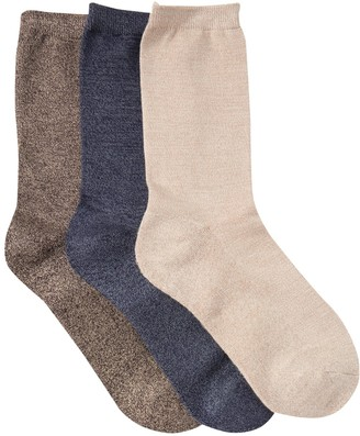 Shimera Pillow Sole Crew Socks - Pack of 3