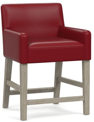 Pottery Barn PB Classic Upholstered Leather Bar & Counter Stools