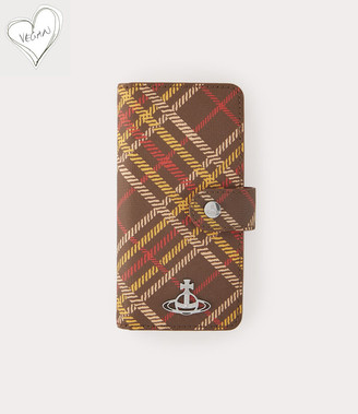 Vivienne Westwood Derby Flap Iphone Case X And Xs Brown Tartan