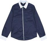 BOSS Logo contrast trim cotton shirt 4-16 years