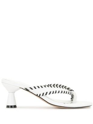 Mara & Mine Whipstitch Trim Sandals