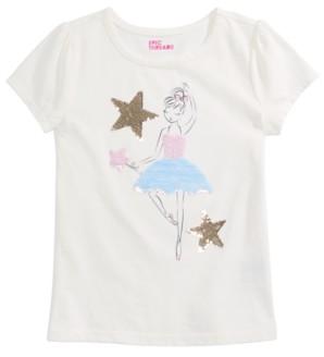 Epic Threads Little Girls Reversible-Sequin Ballerina T-Shirt, Created for Macy's