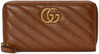 Gucci GG Marmont matelasse zip around wallet