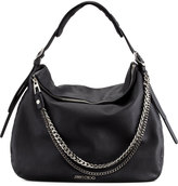 Jimmy Choo Boho Biker Hobo Bag, Black