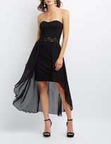 Charlotte Russe Strapless Overlay Maxi Dress