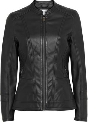 Wallis PETITE Black Faux Leather Jacket