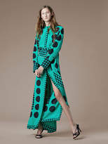Diane von Furstenberg Long-Sleeve Maxi Shirtdress