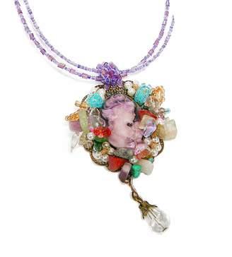 Linpeng Cameo Pendant Necklace Charm Women Fashion Jewelry