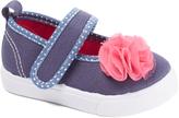Morgan & Milo Navy & Pink Flower Gracie Mary Jane