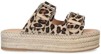 Carvela Kleverer Leopard Flatform Sandals
