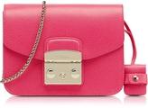 Furla Metropolis Pinky Leather Mini Crossbody Bag