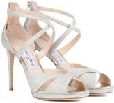 Jimmy Choo Lorina 100 glitter sandals