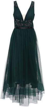 Marchesa Notte Embellished Tulle Dress W/Crystal