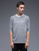 Silas Switching Border Half Sleeve T-Shirt