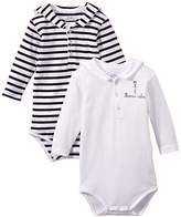 Armor Lux Unisex baby Striped Bodysuit - White -