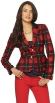 C. Wonder Wool Plaid Velvet Collar Blazer