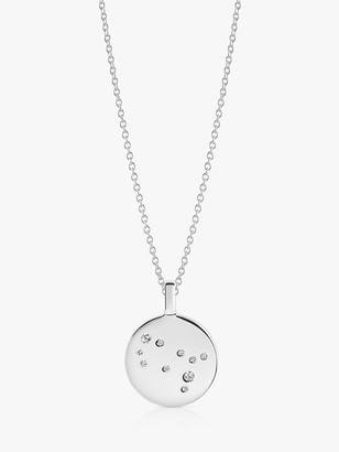 Sif Jakobs Jewellery Zodiaco Gemini Cubic Zirconia Round Pendant Necklace