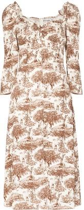 Reformation Fairway sweetheart-neck midi dress