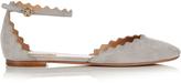 Chloé Lauren scallop-edged suede flats