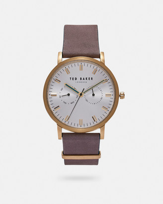 Ted Baker BRITLB Leather strap watch