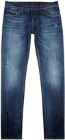 Dolce & Gabbana Blue Faded Straight-leg Jeans