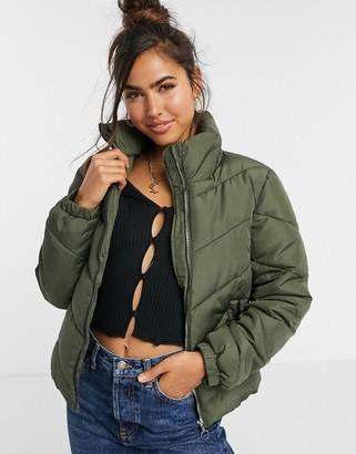 JDY padded jacket in green