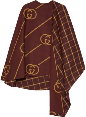 Gucci Wool cape coat with Interlocking G