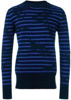 Alexander McQueen striped sweatshirt - men - Cotton/Polyamide/Viscose - S