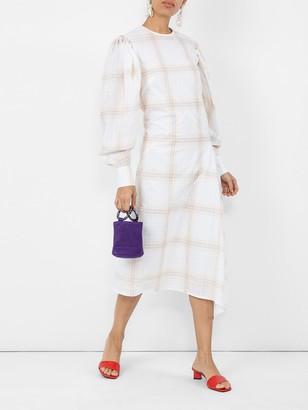 Calvin Klein Check Print Midi Dress