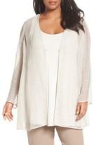 Eileen Fisher Plus Size Women's Organic Linen Mesh Jacket