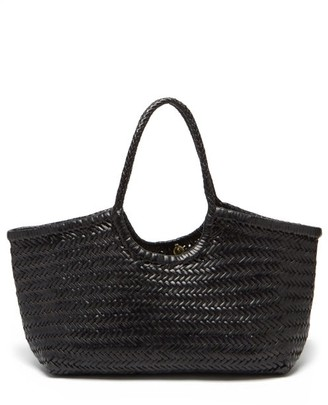 DRAGON DIFFUSION Nantucket Woven-leather Basket Bag - Black