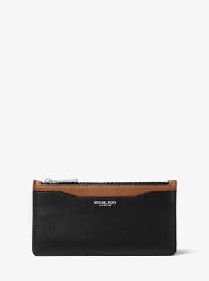 Michael Kors Large Two-Tone Leather Card Case