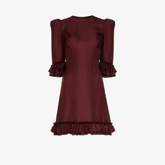 The Vampire's Wife Festival frill trim silk mini dress