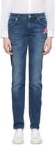 Versus Indigo Pin & Patch Jeans