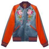 Gucci Acetate bomber jacket with appliqués