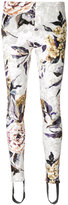 MM6 MAISON MARGIELA floral embroidered leggings