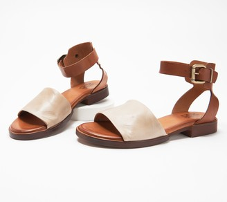Miz Mooz Leather Ankle-Strap Sandals - Moore