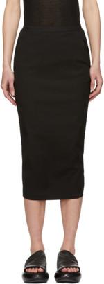 Rick Owens Black Short Soft Pillar Skirt