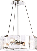 Rejuvenation Willamette Small Fluted Glass Chandelier